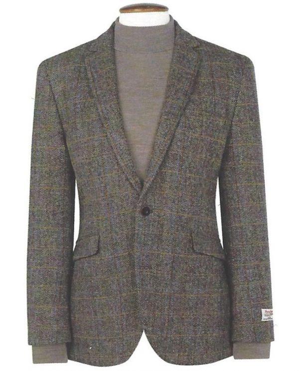 Harris Tweed Sumburgh Jacket - Mid-Brown with Check