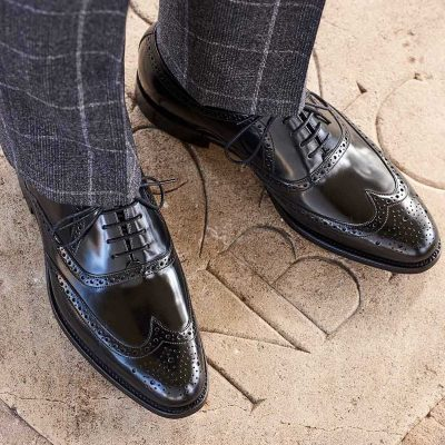 Barker Hampstead Brogue Oxford Shoes - Black