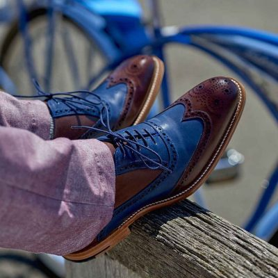 Barker Valiant Brogues - Hand Painted