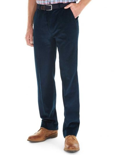 GURTEEN Cords - Verona Stretch Cotton - Navy