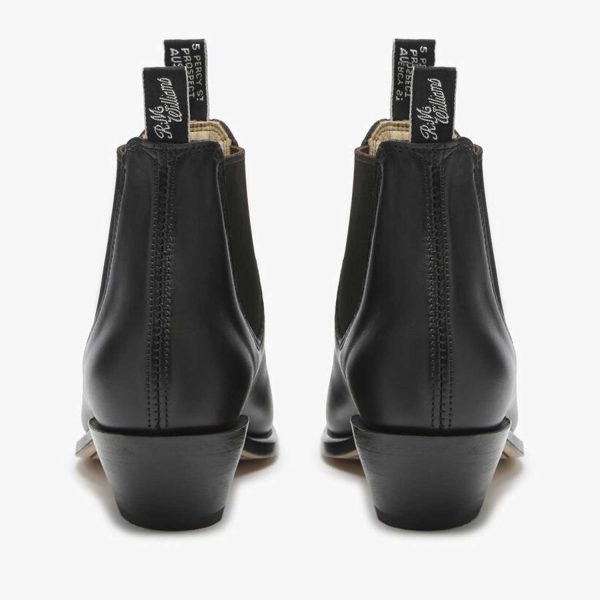 RM WILLIAMS Boots - Ladies Adelaide with Cuban Heel - Black
