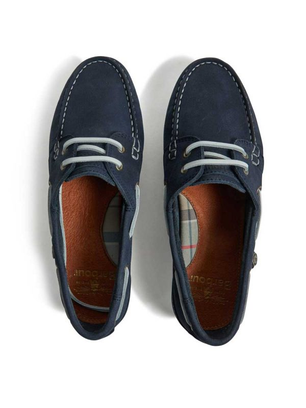 Barbour Ladies Bowline Boat Shoes - Navy