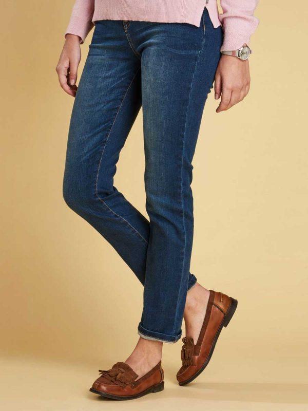 Barbour Ladies Essential Slim Fit Jeans - Worn Blue
