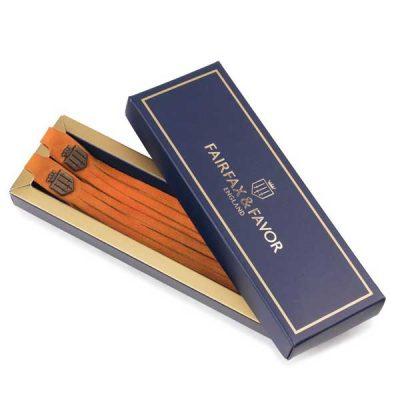FAIRFAX-&-FAVOR-Boot-Tassels---Tangerine-Suede