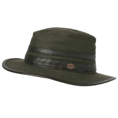 DUBARRY Butler Fedora Style Waterproof Hat - Dark Olive