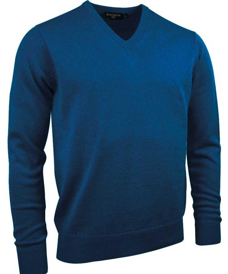 Glenmuir Men's Lomond V Neck Lambswool Sweater - Rhapsody