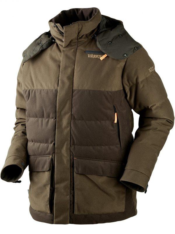 HARKILA Jacket - Mens Expedition Down - Hunting Green / Shadow Brown