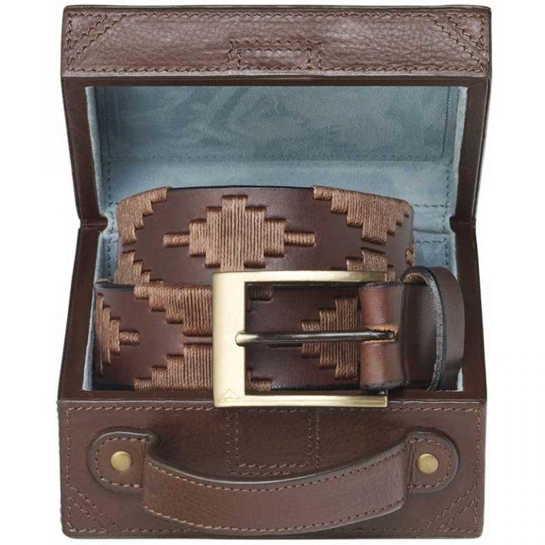 Pampeano - Habano Polo Belt with Luggage Trunk Gift Box