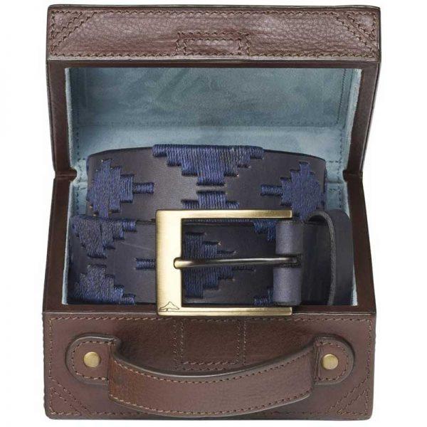Pampeano - Marino Polo Belt with Luggage Trunk Gift Box