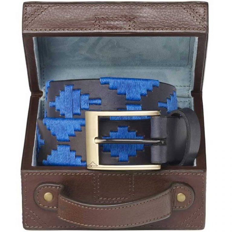 Pampeano - Zafiro Polo Belt with Luggage Trunk Gift Box
