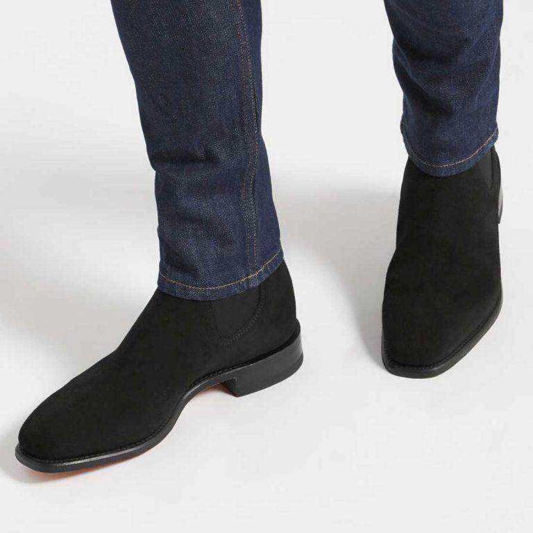 RM WILLIAMS Boots - Men's Classic Craftsman - Black Suede