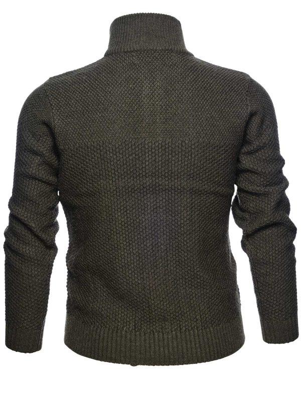 SEELAND Knitwear - Mens Dyna Full Zip Cardigan - Forest Green