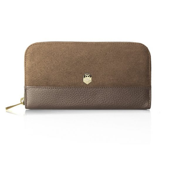 FAIRFAX & FAVOR Purse - Ladies Salisbury Leather & Suede - Tan