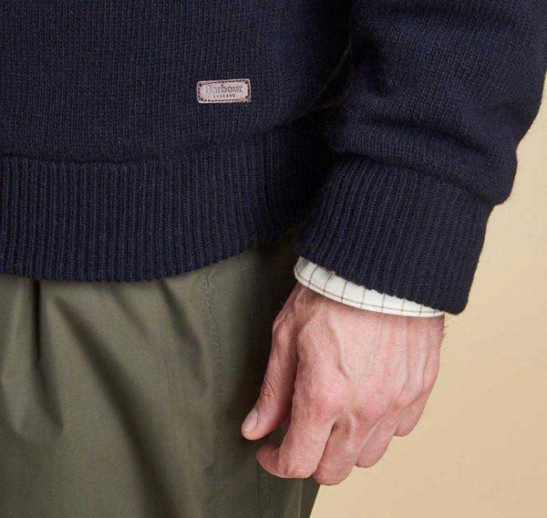 Barbour - Men's Ayton Half Zip Sweater - Navy