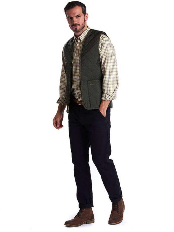 BARBOUR - Men's Quilted Waistcoat/Zip-In Liner