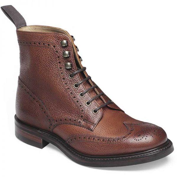 Cheaney Ladies - Olivia R Brogue Country Boot - Mahogany Grain