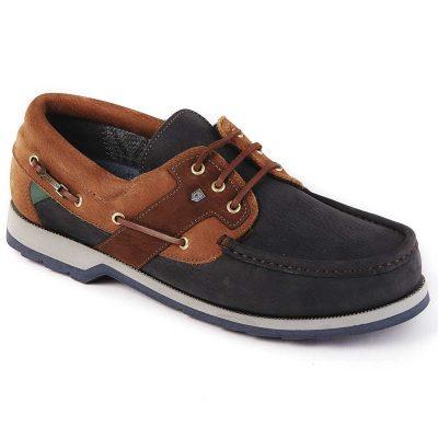 DUBARRY Deck Shoes - Men's Clipper Gore-Tex - Navy & Brown