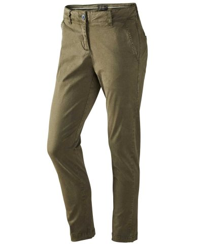 SEELAND Trousers - Ladies Constance Chinos - Moss Green