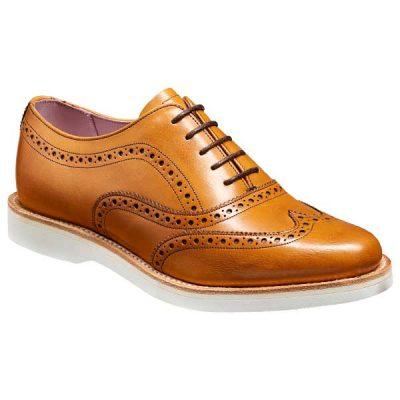 BARKER Josie Shoes - Ladies Oxford Brogues – Cedar Calf