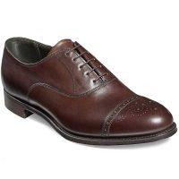 Cheaney - Rushton Oxford Semi Brogue Shoes - Mocha Calf