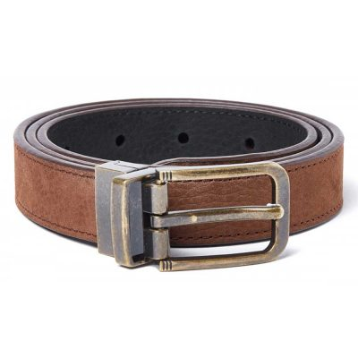 DUBARRY Foynes Leather Belt - Reversible Walnut