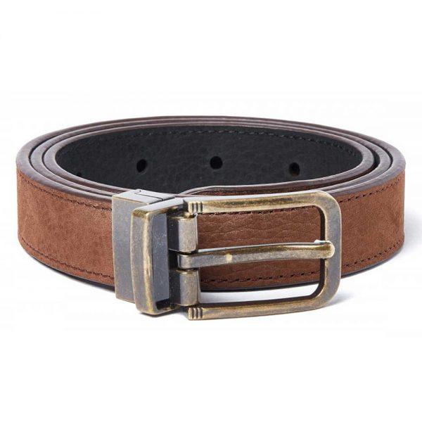 DUBARRY Foynes Leather Belt - Reversible Walnut