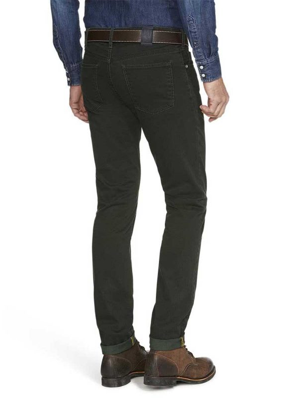 Meyer M5 Jeans - 6106 Pima Cotton Five Pocket - Slim Fit - Dark Green