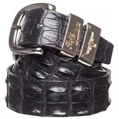 "RM WILLIAMS Belt - Men's Saltwater Crocodile 1.5"" - Black"