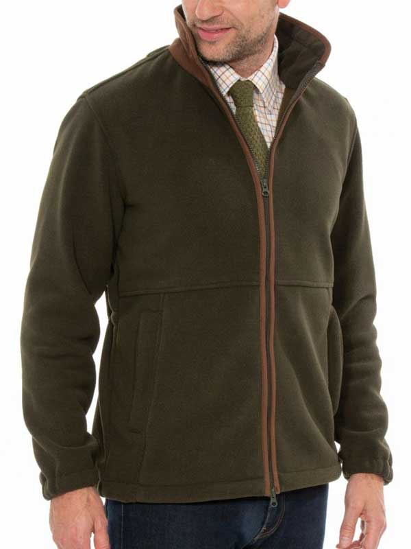 ALAN PAINE - Mens Aylsham Fleece Jacket - Green