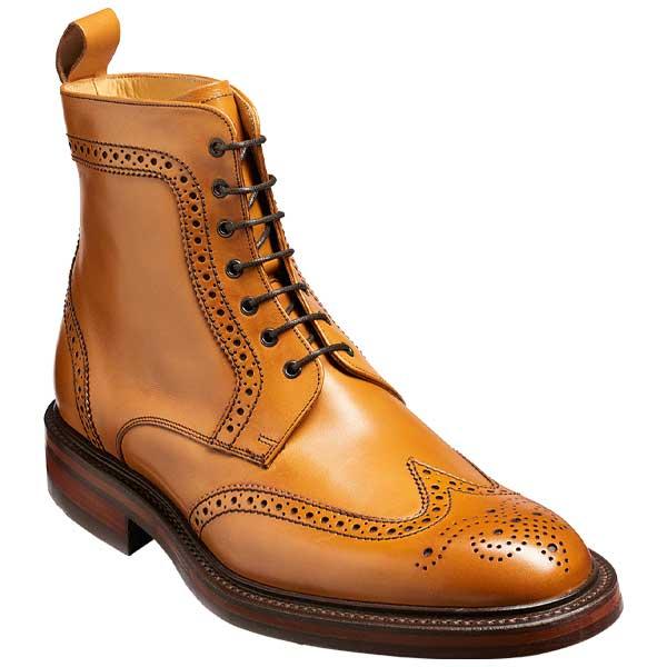 BARKER Calder Boots - Mens Chukka Dainite Sole - Cedar Calf