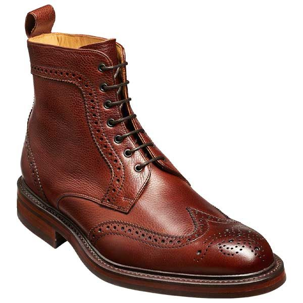 BARKER Calder Boots - Mens Chukka - Cherry Grain