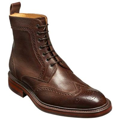 BARKER Calder Boots - Mens Chukka - Dark Brown Grain