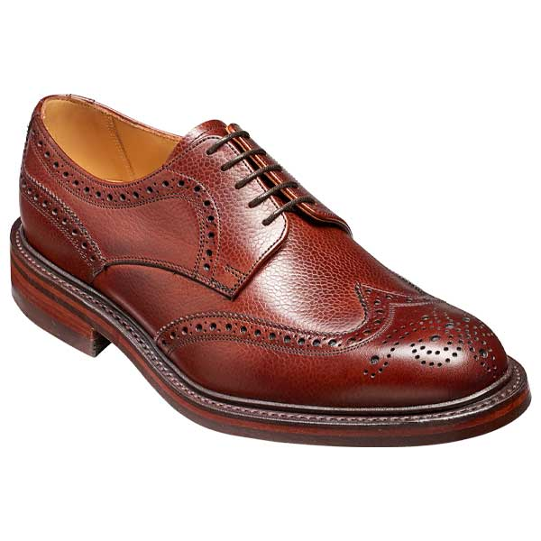 BARKER Kelmarsh Shoes - Derby Brogues - Cherry Grain