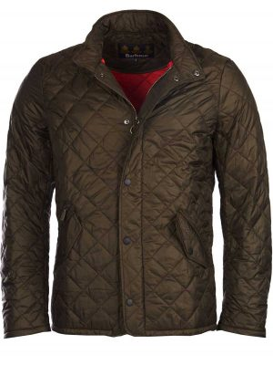 BARBOUR Jacket - Mens Chelsea Flyweight Quilted - Olive