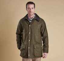 Barbour - Mens Dotterel Waterproof Wool Jacket - Olive & Red Check