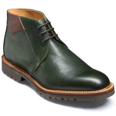 Barker Fortrose Chukka Boots Vibram Sole - Green Grain / Walnut Calf