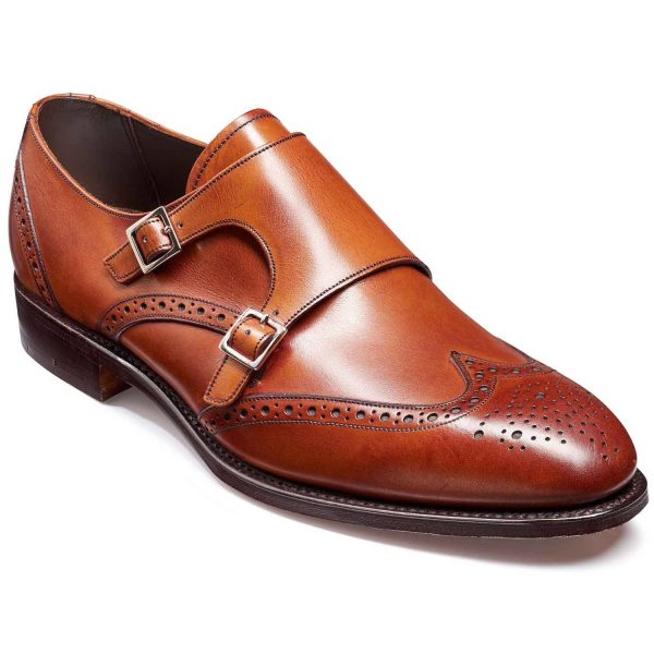Barker Fleet Double Monk Strap Brogues - RosewoodCalf