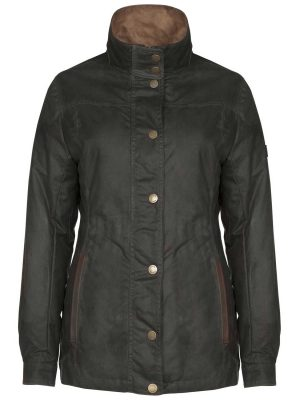 DUBARRY Ladies Mountrath Wax Jacket - Olive