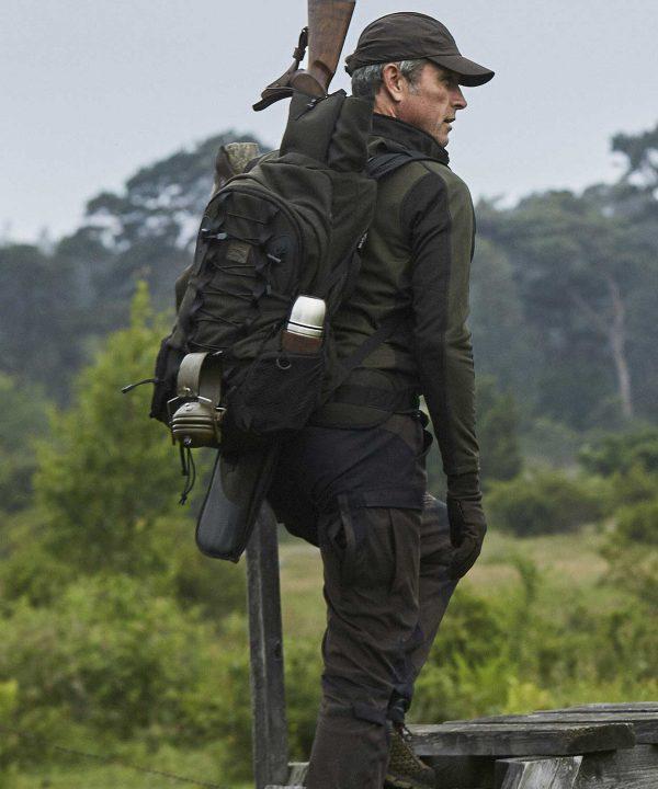 Härkila Vestmar Hybrid Mens Fleece Jacket - Rifle Green Melange