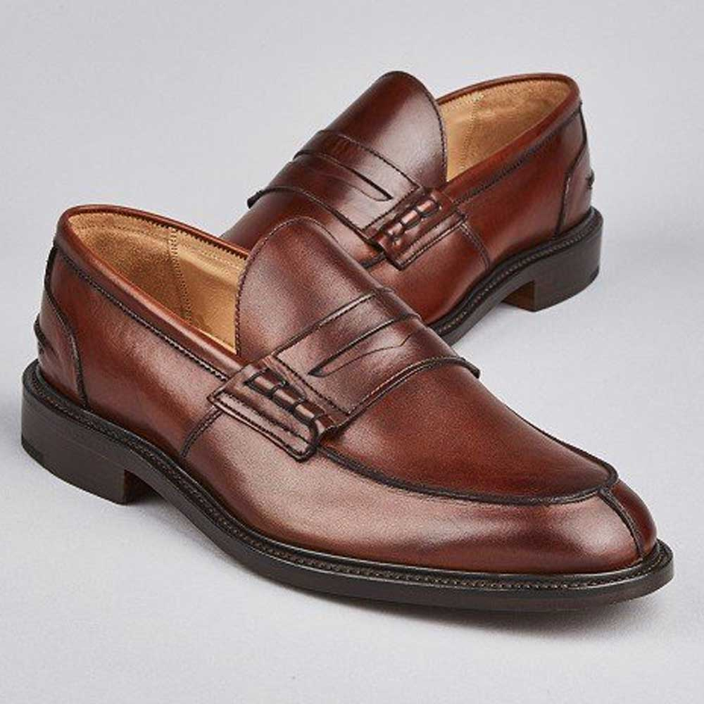fe924843032a TRICKER'S Shoes - Mens James Penny Loafers - Chestnut