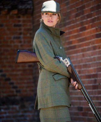 ALAN PAINE Field Coat - Ladies Combrook Tweed – Juniper