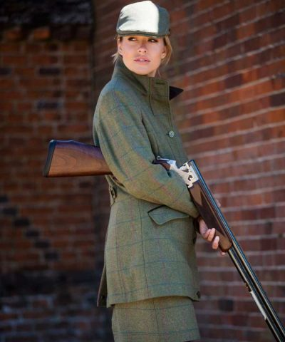 ALAN PAINE Field Coat - Ladies Combrook Tweed – Juniper