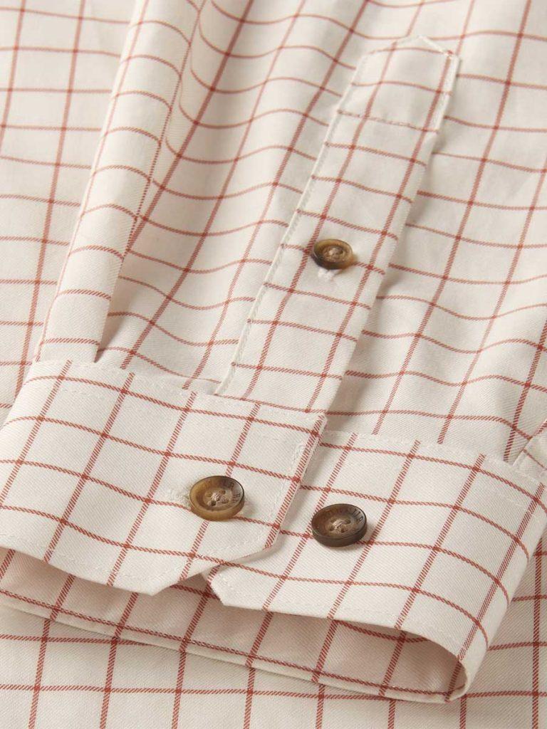 Härkila Mens Stenstorp Shirt - Burnt Orange Check