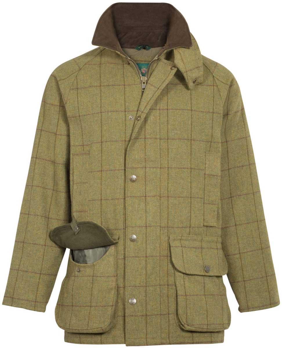 ca67cb7c6c6fe ALAN PAINE Shooting Coat – Mens Rutland Tweed – Lichen