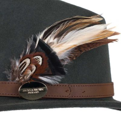 HICKS & BROWN Hat - Ladies Suffolk Gamebird Fedora - Olive