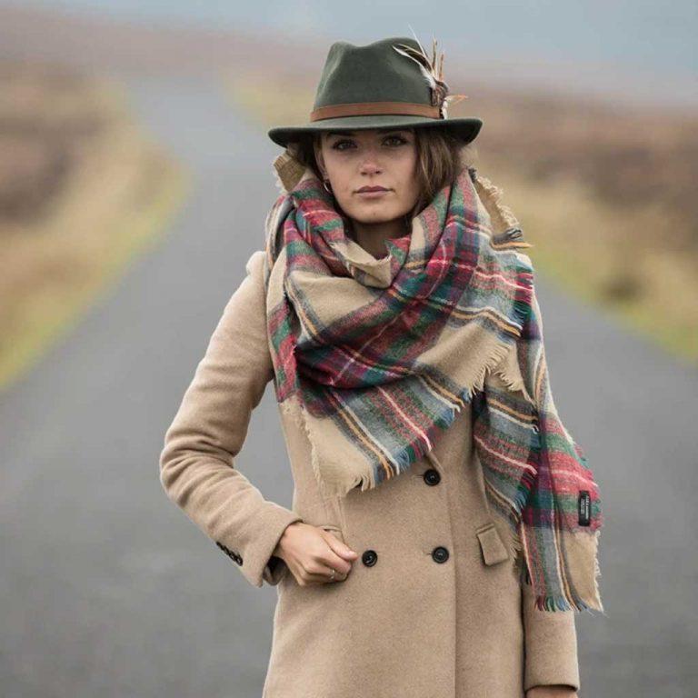 HICKS & BROWN Hat - Ladies Suffolk Gamebird Fedora - Olive