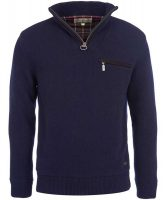 Barbour - Mens Ayton Half Zip Sweater - Navy