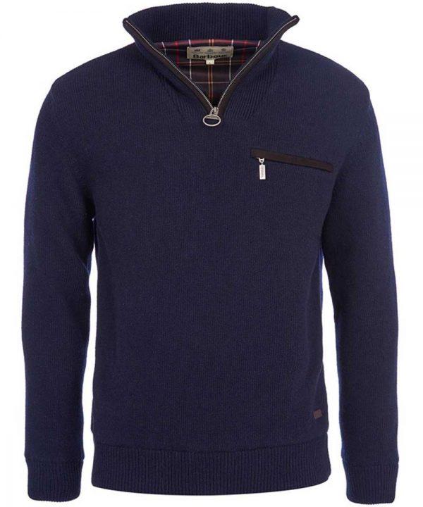 Barbour - Mens Ayton Half Zip Sweater - Navy