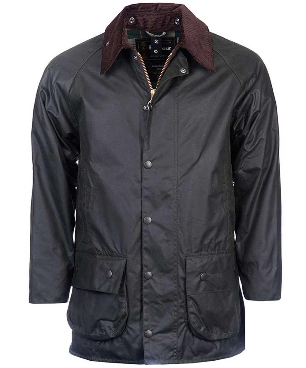 Barbour Beaufort Mens Wax Jacket Sage