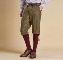 Barbour - Mens Moorhen Waterproof Wool Breeks - Olive & Brown Check